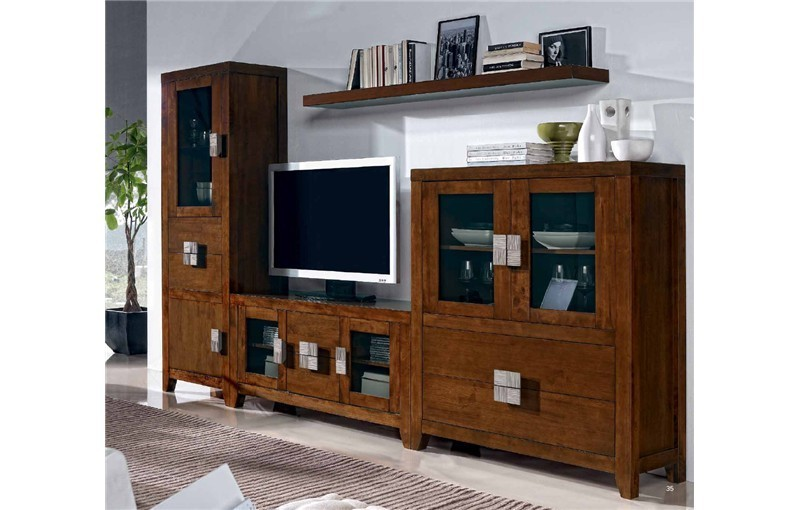 MUEBLE TV, VITRINA, ALACENA Y ESTANTE PRESTON