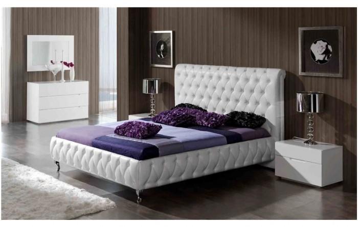 cabecero cama capiton blanca casablanca