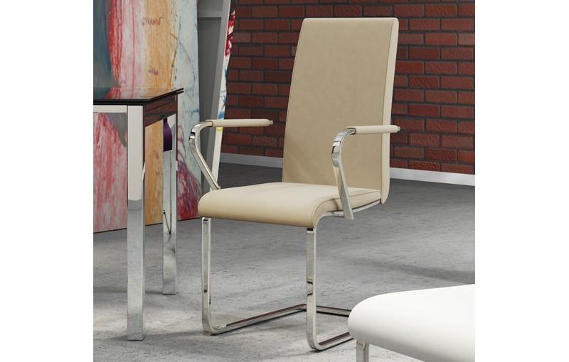 silla olga tapizado blanco beige