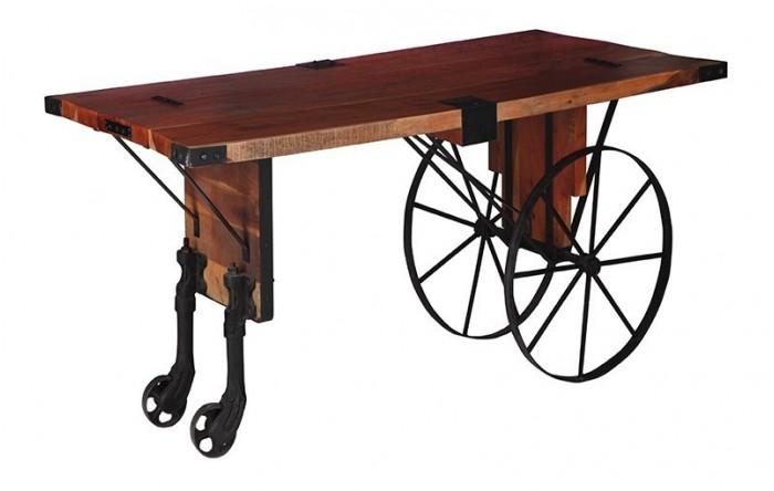 Mesa carro con ruedas de forja - Ruedas de mesa ...