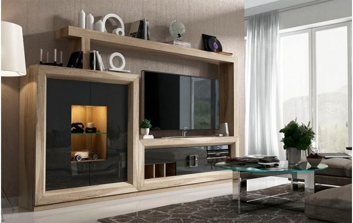 Aparador alto con luz for Salones completos baratos