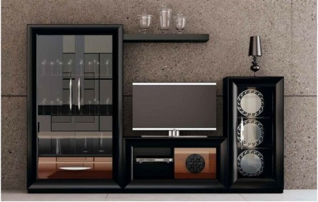 MUEBLE SALÓN SERIK BLACK FRANCO FURNITURE