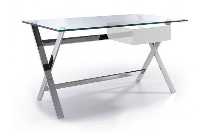 Escritorio cristal iron - Mesas escritorio de cristal ...