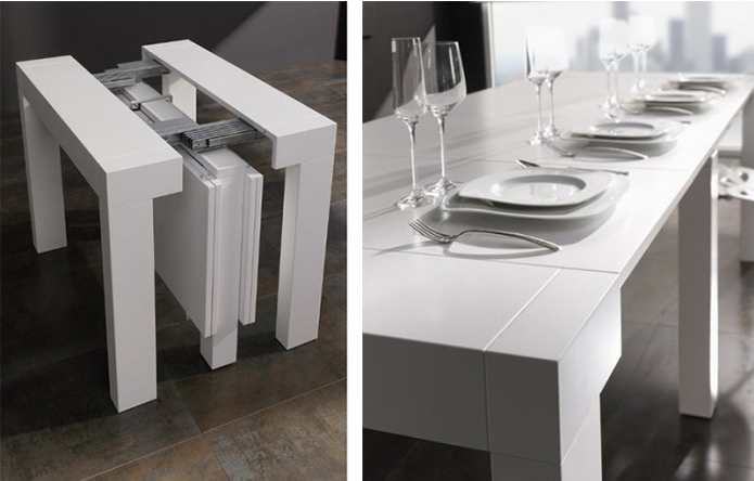 Consolas que se convierten en mesas de comedor