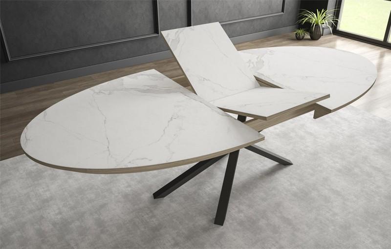 mesa ovalada extensible